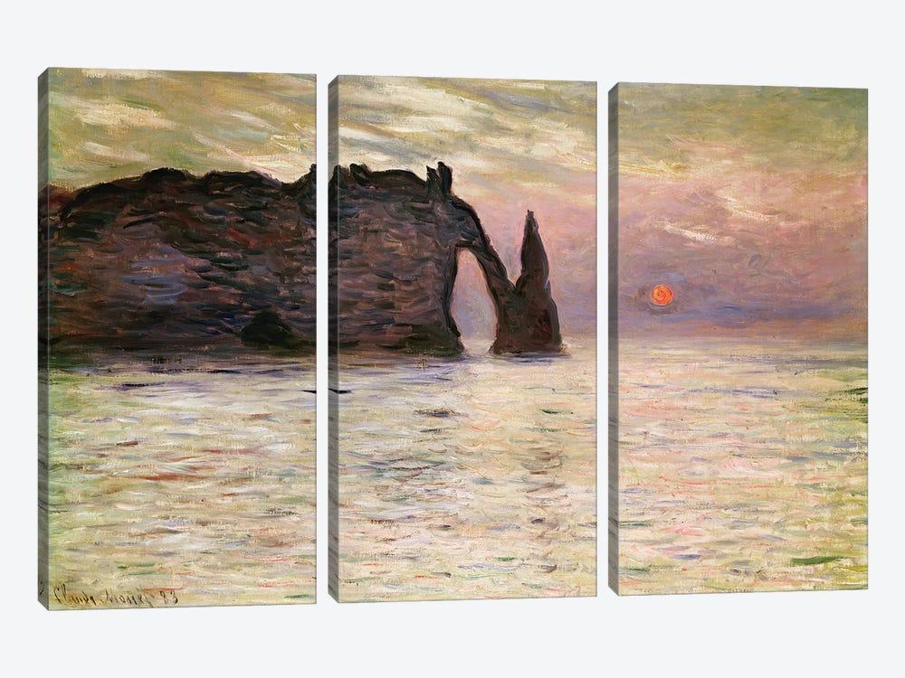 Falaise d'Etretat, 1883  by Claude Monet 3-piece Canvas Artwork