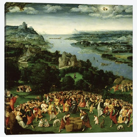 The Feeding of the Five Thousand  Canvas Print #BMN2708} by Joachim Patinir Art Print