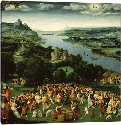 The Feeding of the Five Thousand  Canvas Art Print