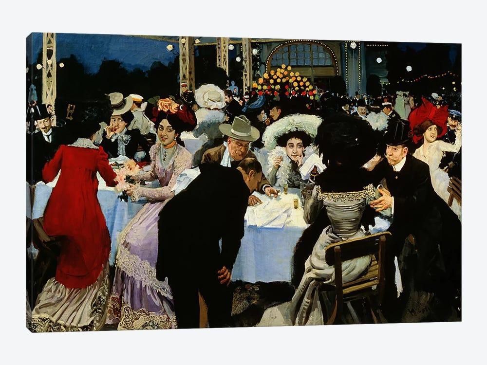 Night Restaurant  by M.G Slepyan 1-piece Canvas Print