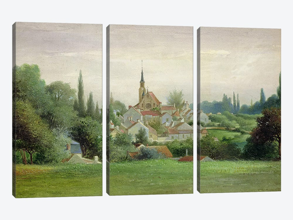 Verriere-le-Buisson, c.1880 by Eugene Bourrelier 3-piece Canvas Artwork