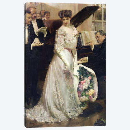 The Celebrated, 1906  Canvas Print #BMN2722} by Joseph Marius Avy Art Print