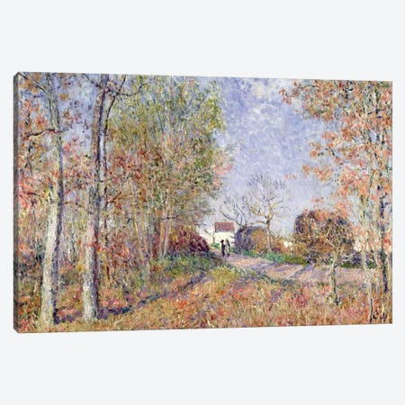 A Corner of the Woods at Sablons, 1883  Canvas Print #BMN2723} by Alfred Sisley Art Print