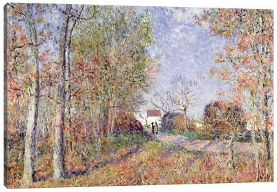 A Corner of the Woods at Sablons, 1883  Canvas Art Print