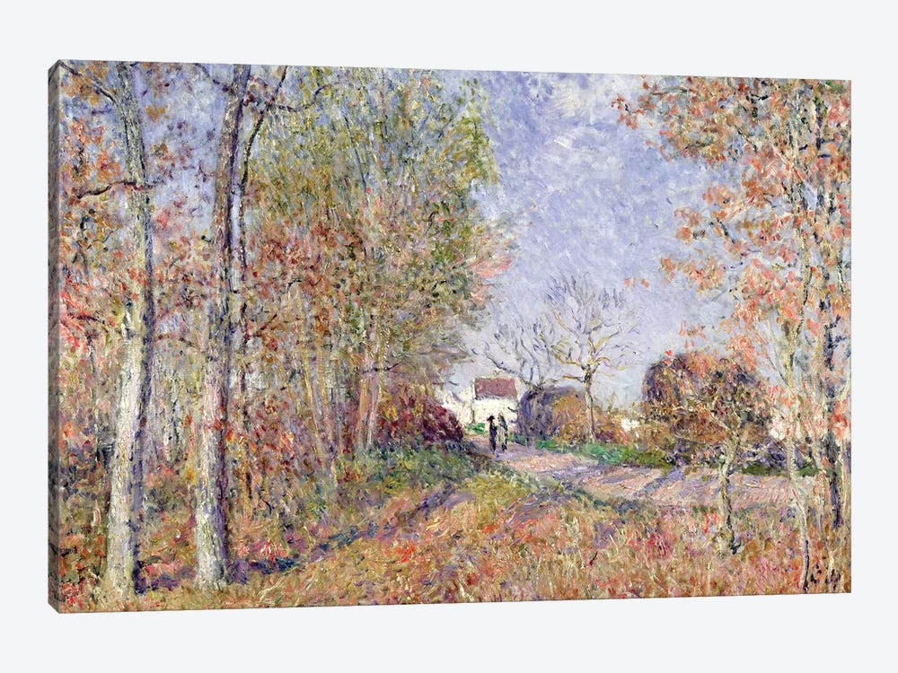 A Corner of the Woods at Sablons, 1883  by Alfred Sisley 1-piece Canvas Print