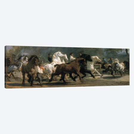 Study For The Horsemarket, 1852-54 Canvas Print #BMN2725} by Rosa Bonheur Canvas Artwork