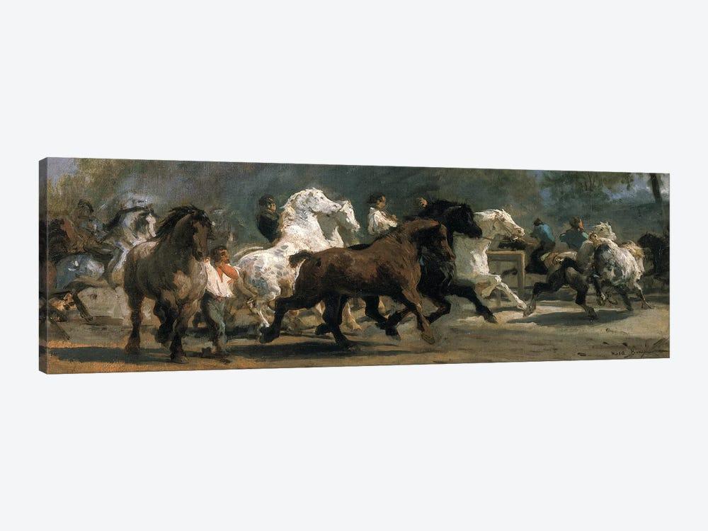 Study For The Horsemarket, 1852-54 by Rosa Bonheur 1-piece Canvas Art Print