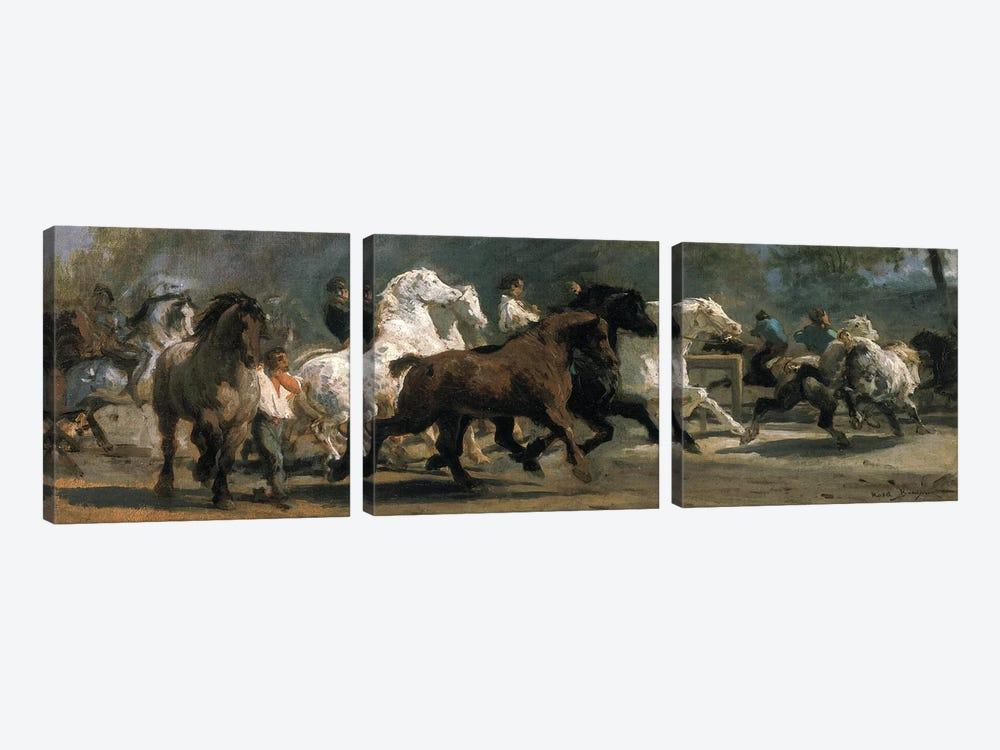 Study For The Horsemarket, 1852-54 by Rosa Bonheur 3-piece Art Print
