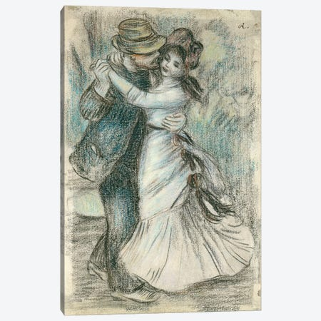 The Dance, 1883  Canvas Print #BMN2727} by Pierre-Auguste Renoir Canvas Artwork
