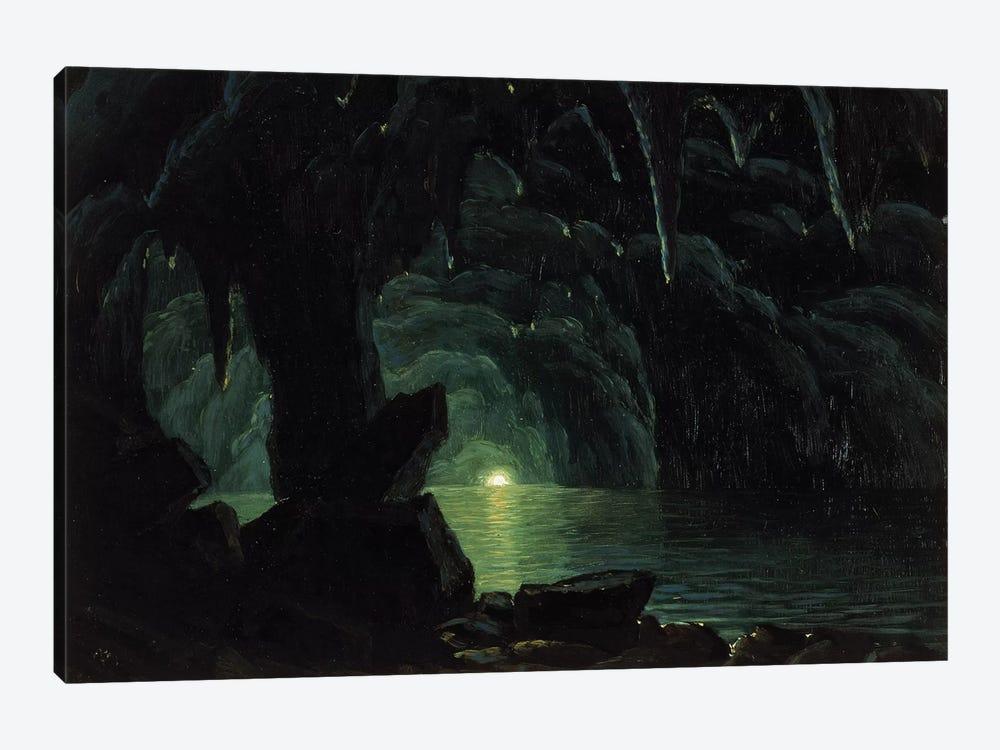 The Blue Grotto, Capri  by Albert Bierstadt 1-piece Canvas Wall Art