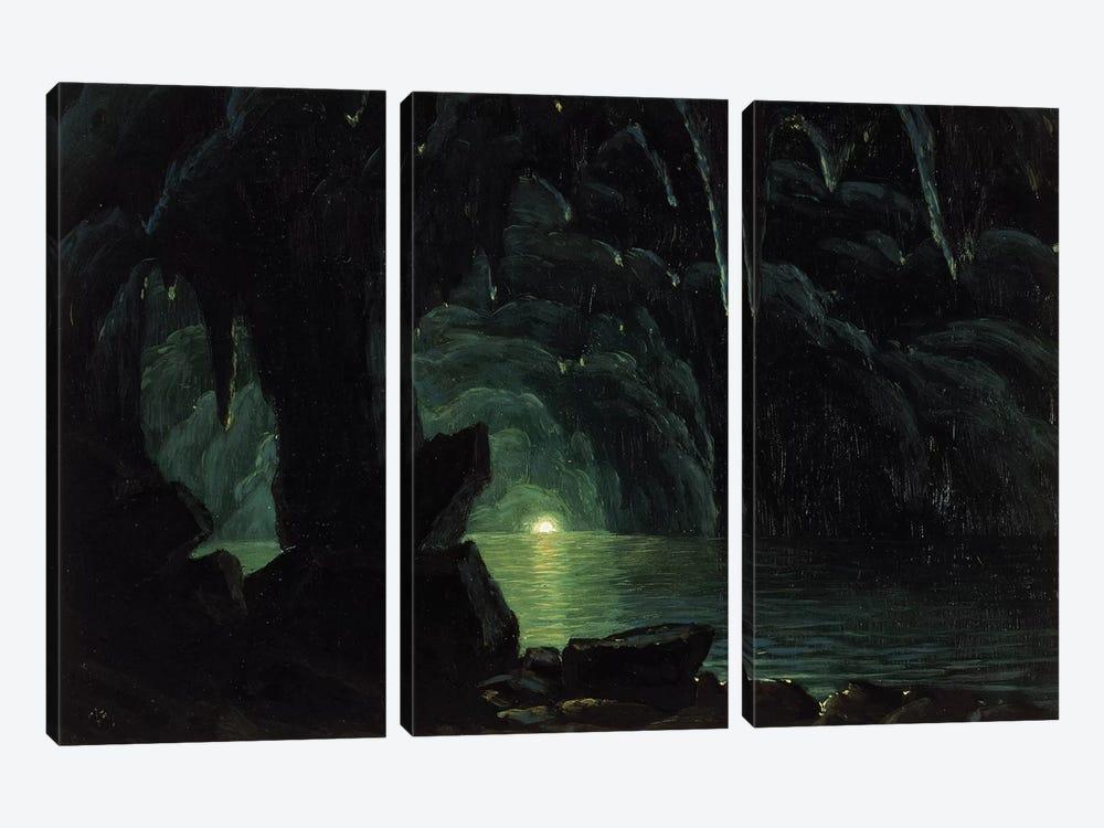 The Blue Grotto, Capri  by Albert Bierstadt 3-piece Canvas Artwork