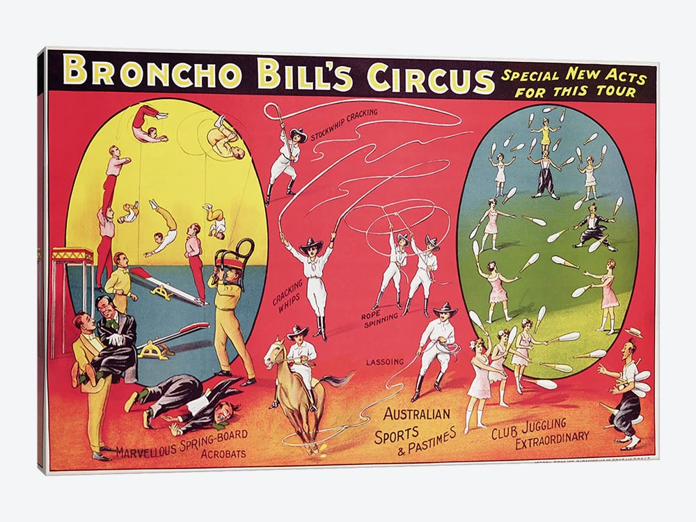 Broncho Bill's Circus, Birmingham c.1890-1910  by English School 1-piece Art Print