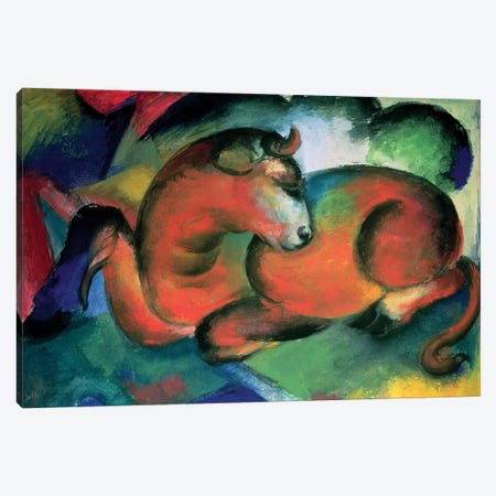 The Red Bull, 1912  Canvas Print #BMN2730} by Franz Marc Canvas Art