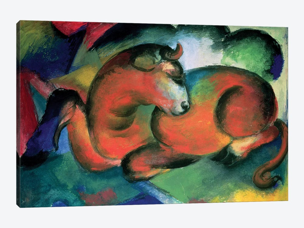 The Red Bull, 1912  by Franz Marc 1-piece Art Print
