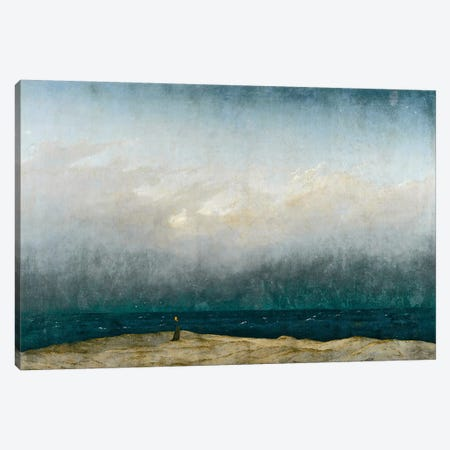 Monk by sea, 1809  Canvas Print #BMN2731} by Caspar David Friedrich Canvas Art