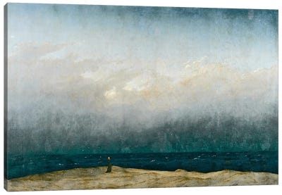 Monk by sea, 1809 by Caspar David Friedrich Canvas Art