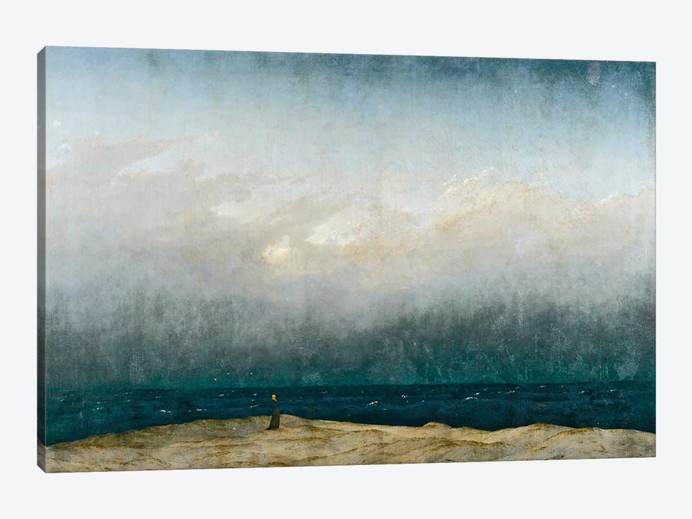 Monk by sea, 1809  by Caspar David Friedrich 1-piece Canvas Art