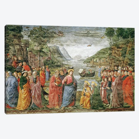 The Calling of SS. Peter and Andrew, 1481  Canvas Print #BMN2732} by Domenico Ghirlandaio Canvas Wall Art