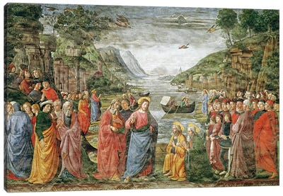 The Calling of SS. Peter and Andrew, 1481 Canvas Art Print