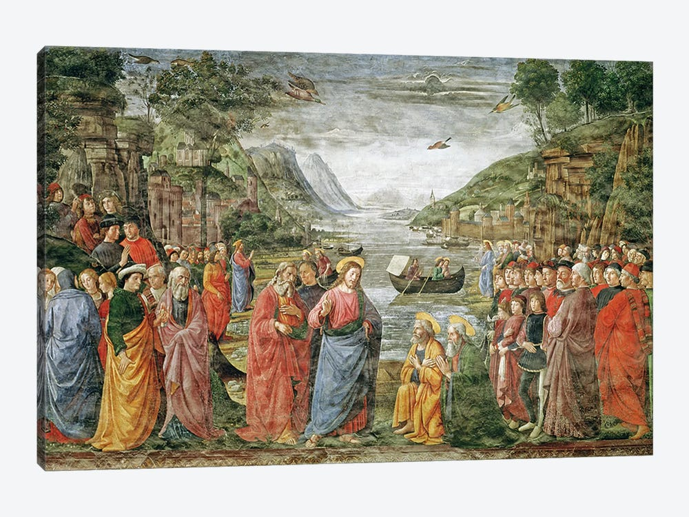 The Calling of SS. Peter and Andrew, 1481  by Domenico Ghirlandaio 1-piece Canvas Print