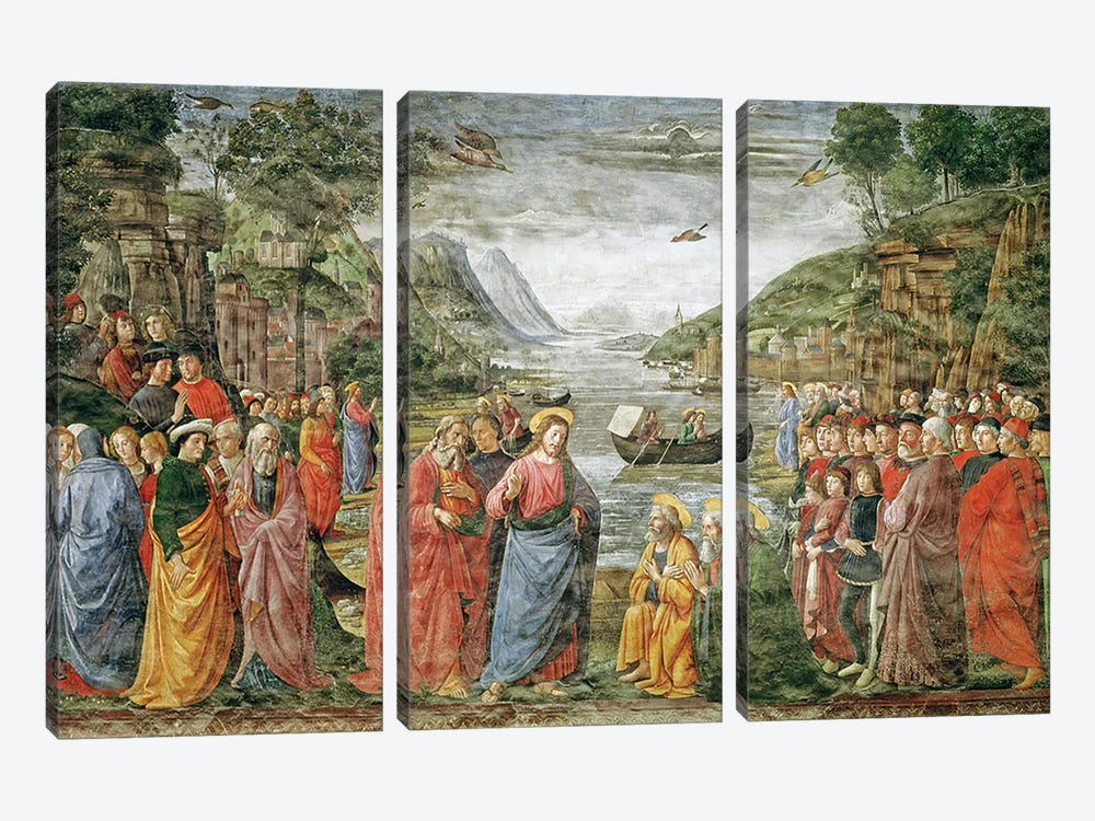 The Calling of SS. Peter and Andrew, 1481  by Domenico Ghirlandaio 3-piece Canvas Print