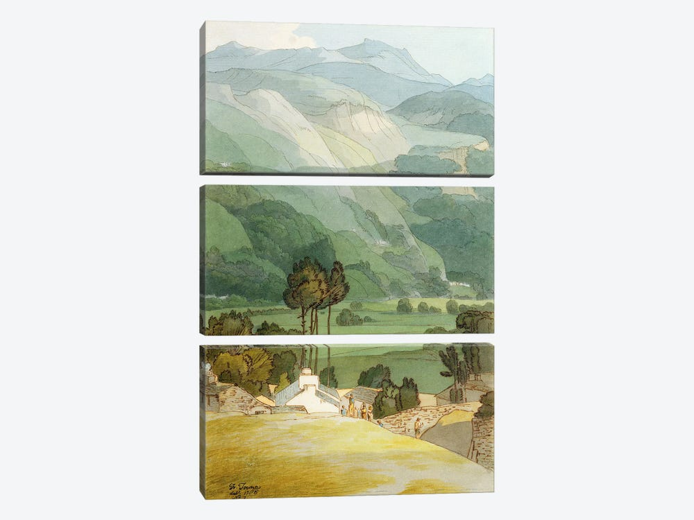 Ambleside, 1786  by Francis Towne 3-piece Canvas Art