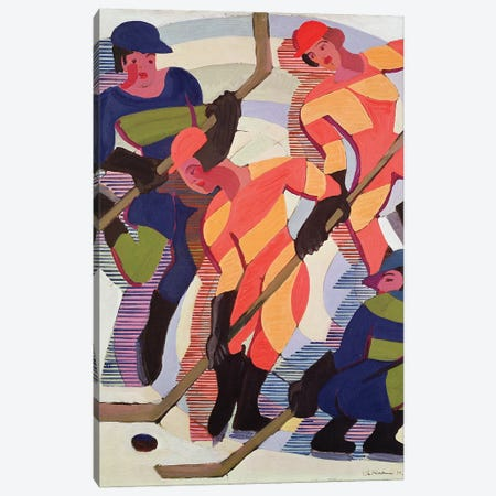 Hockey Players, 1934  Canvas Print #BMN2750} by Ernst Ludwig Kirchner Canvas Wall Art
