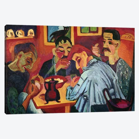 Peasants at Midday, 1920  Canvas Print #BMN2751} by Ernst Ludwig Kirchner Canvas Art