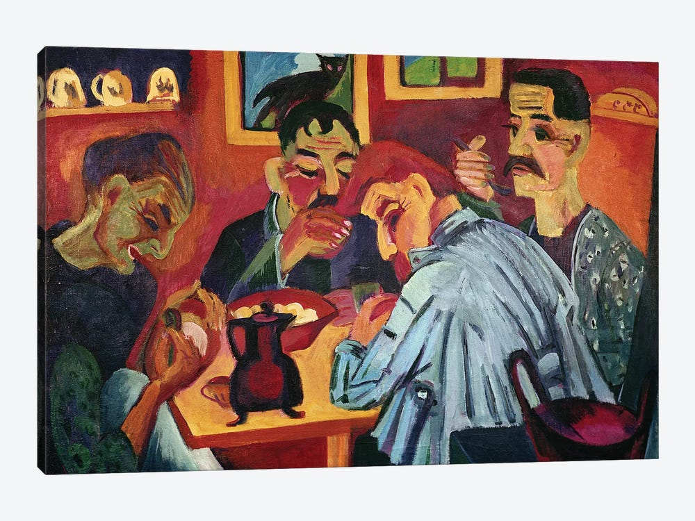 Peasants at Midday, 1920  by Ernst Ludwig Kirchner 1-piece Canvas Artwork