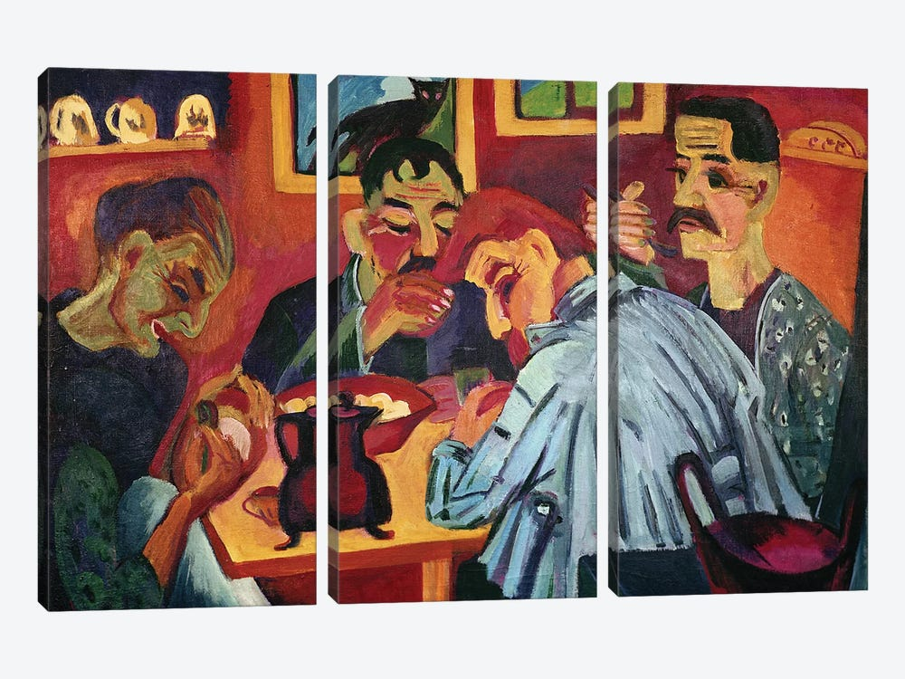 Peasants at Midday, 1920  by Ernst Ludwig Kirchner 3-piece Canvas Art