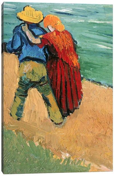 A Pair of Lovers, Arles, 1888  Canvas Art Print