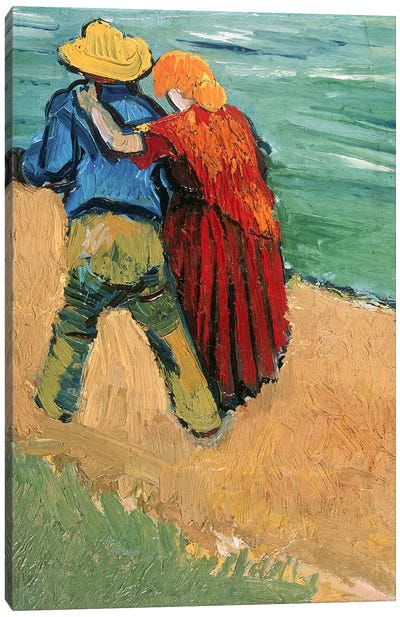 A Pair of Lovers, Arles, 1888  Canvas Art Print