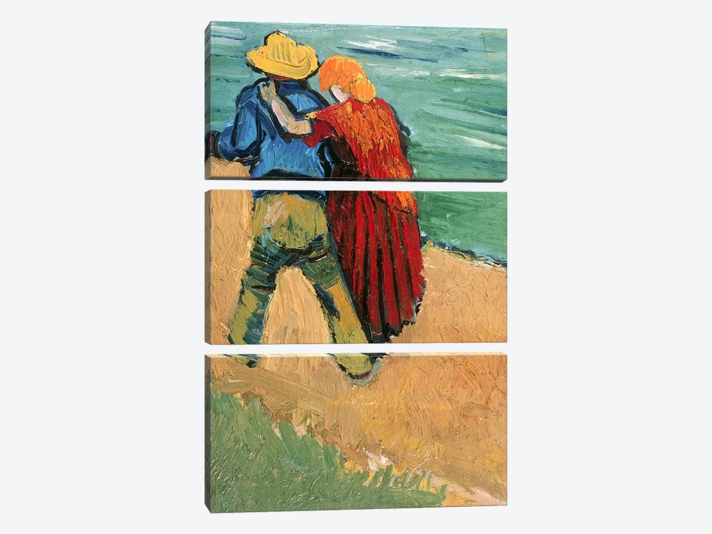 A Pair of Lovers, Arles, 1888  by Vincent van Gogh 3-piece Canvas Wall Art