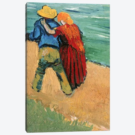 A Pair of Lovers, Arles, 1888  3-Piece Canvas #BMN2755} by Vincent van Gogh Canvas Print
