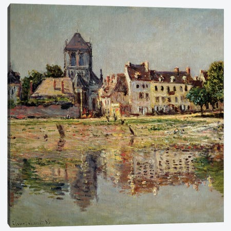 By the River at Vernon, 1883  Canvas Print #BMN2757} by Claude Monet Canvas Print