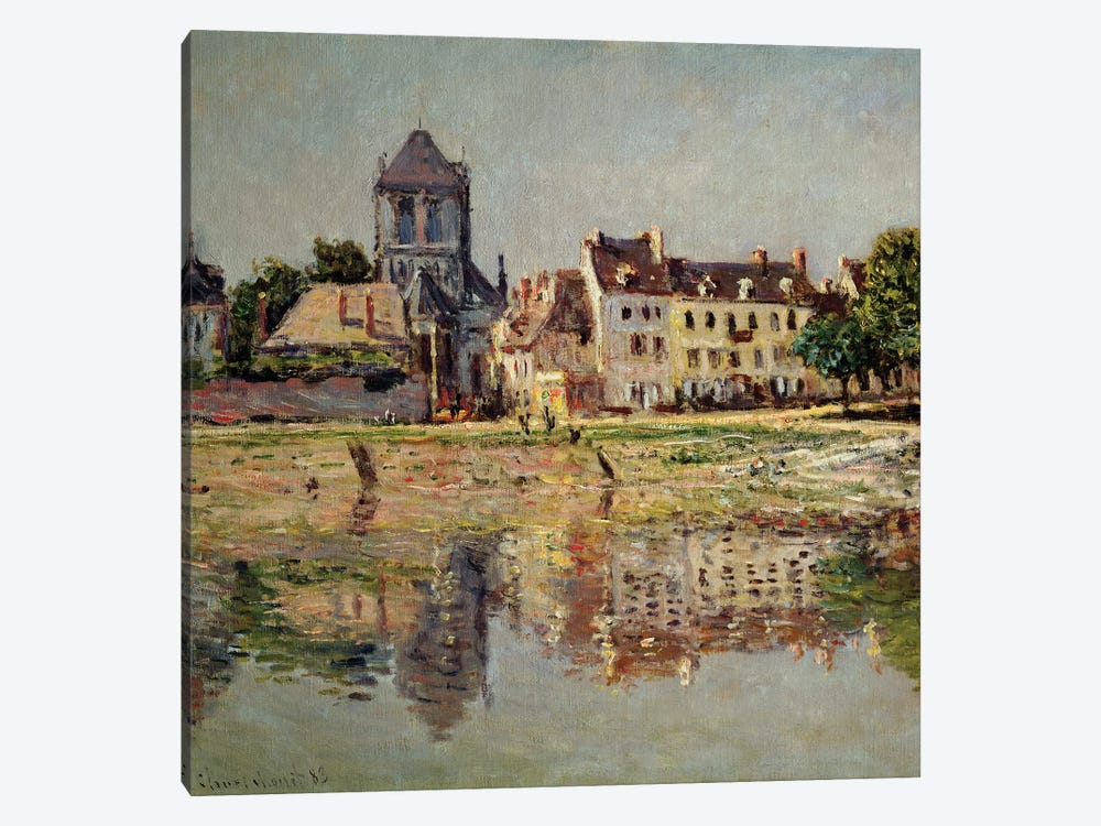 By the River at Vernon, 1883  by Claude Monet 1-piece Canvas Wall Art