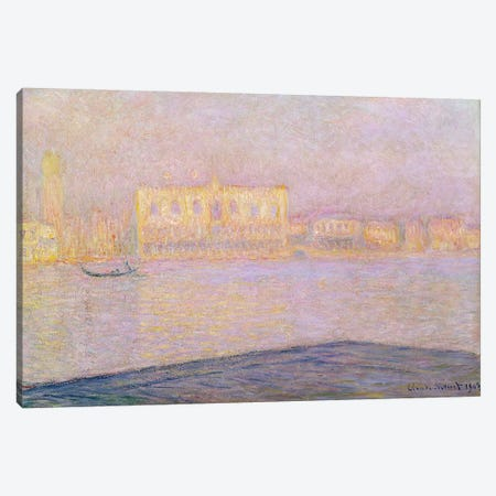 The Ducal Palace from San Giorgio, 1908  Canvas Print #BMN2758} by Claude Monet Canvas Art