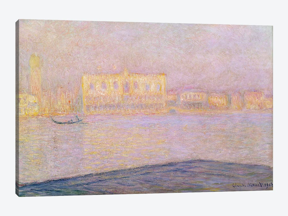 The Ducal Palace from San Giorgio, 1908 by Claude Monet 1-piece Art Print