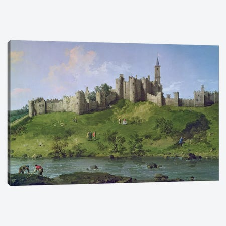 Alnwick Castle Canvas Print #BMN275} by Canaletto Canvas Artwork
