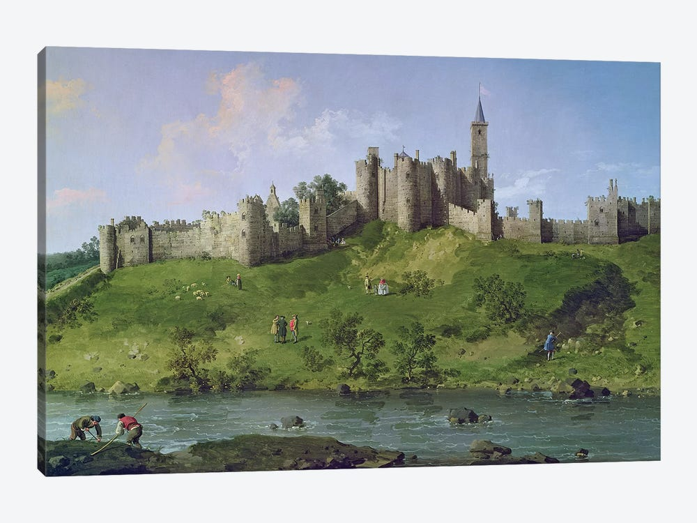 Alnwick Castle by Canaletto 1-piece Canvas Art