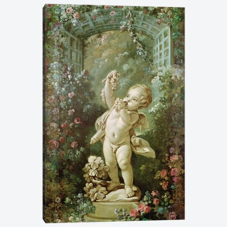 Cupid with Grapes  Canvas Print #BMN2767} by Francois Boucher Canvas Art