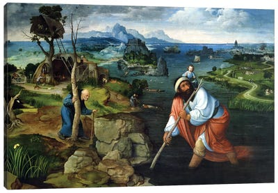 St. Christopher  Canvas Art Print