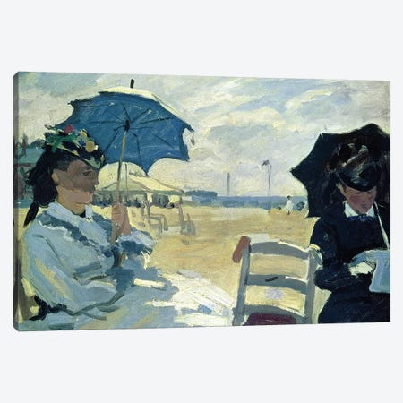 The Beach at Trouville, 1870  Canvas Print #BMN276} by Claude Monet Canvas Wall Art