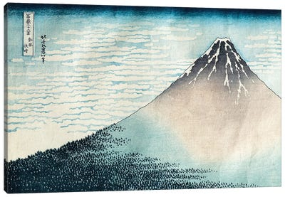 Fine Wind, Clear Morning (Red Fuji) c.1830-32 (Musee Guimet) Canvas Art Print