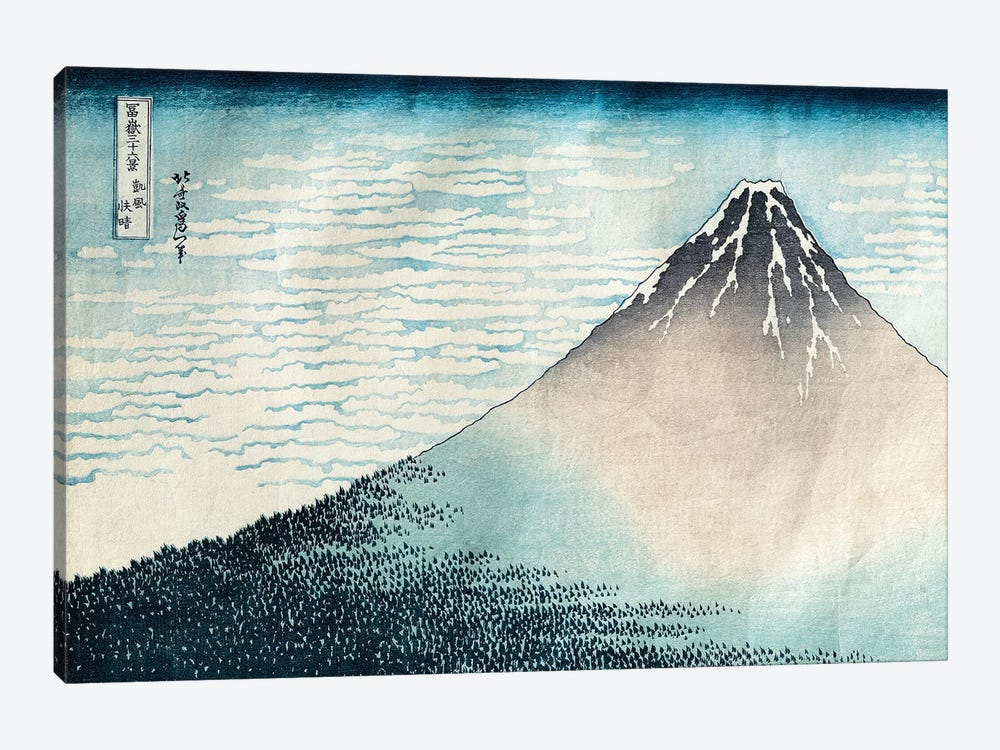 'Fuji in Clear Weather', from the series '36 Views of Mount Fuji' by Katsushika Hokusai 1-piece Canvas Print