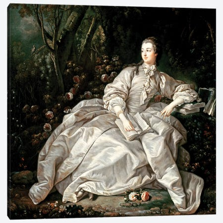 Madame de Pompadour  Canvas Print #BMN2771} by Francois Boucher Canvas Wall Art