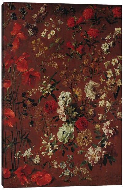 Study of Flowers, 1720  Canvas Art Print