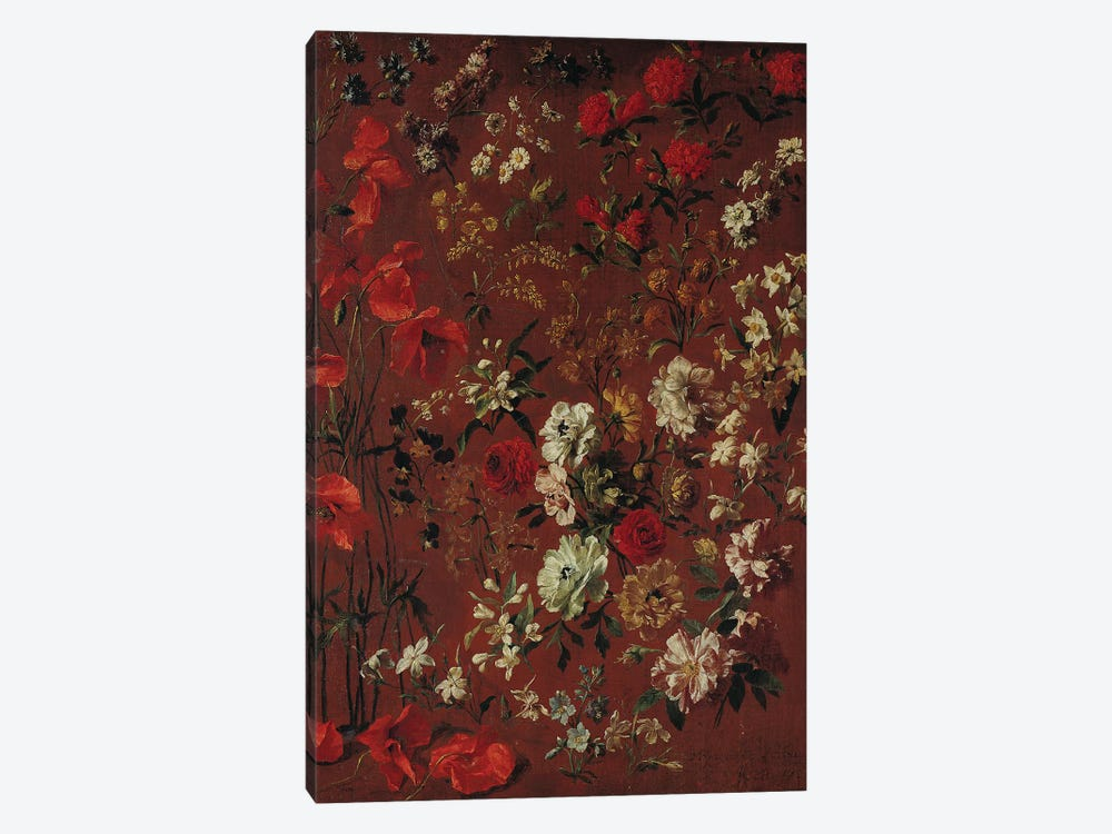 Study of Flowers, 1720  by Hyacinthe Rigaud 1-piece Canvas Artwork