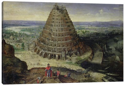 The Tower of Babel, 1594  Canvas Art Print