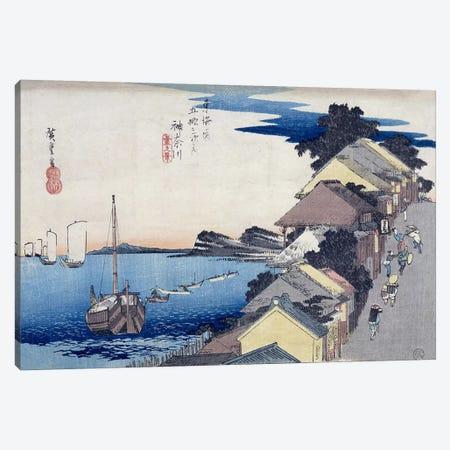 Kanagawa, dai no kei (Kanagawa: View of the Embankment) Canvas Print #BMN2777} by Utagawa Hiroshige Canvas Print